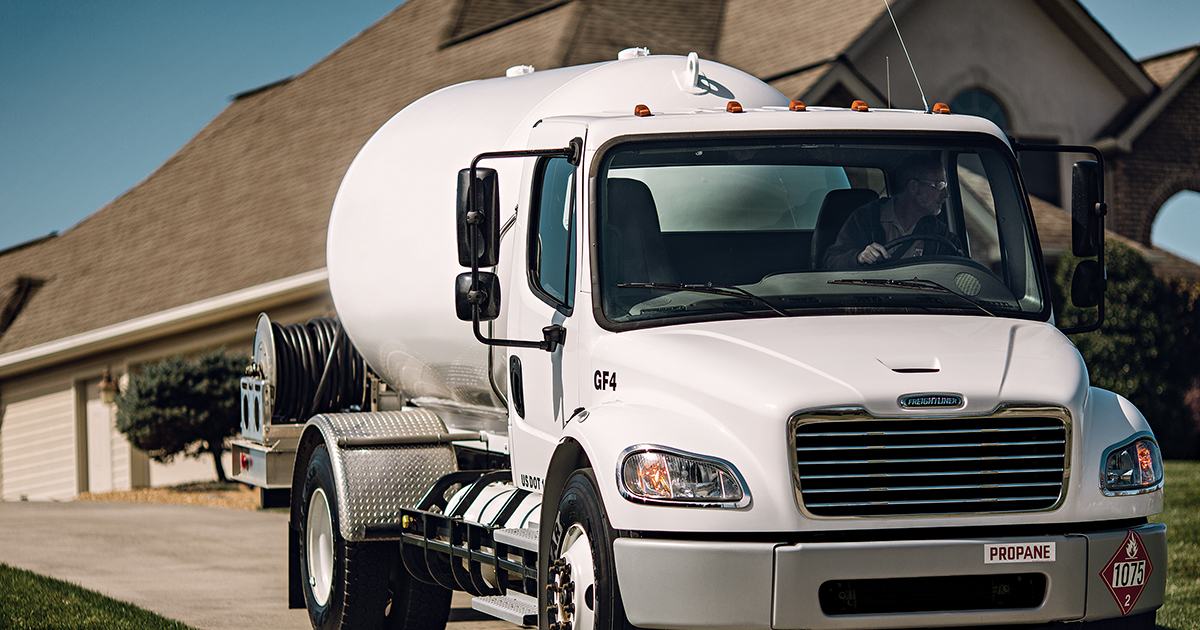 Local TX Propane Delivery Truck