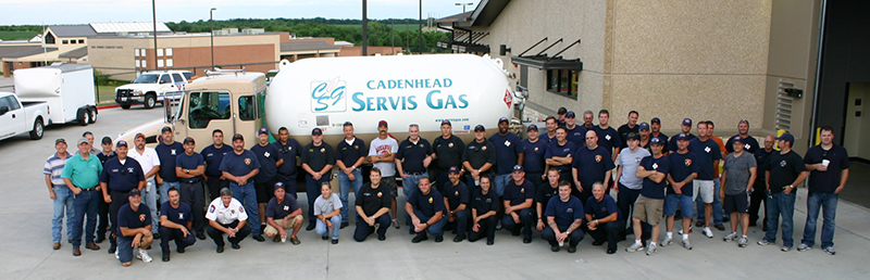The Cadenhead Servis Gas Propane Delivery and Service Team in Royse City, TX