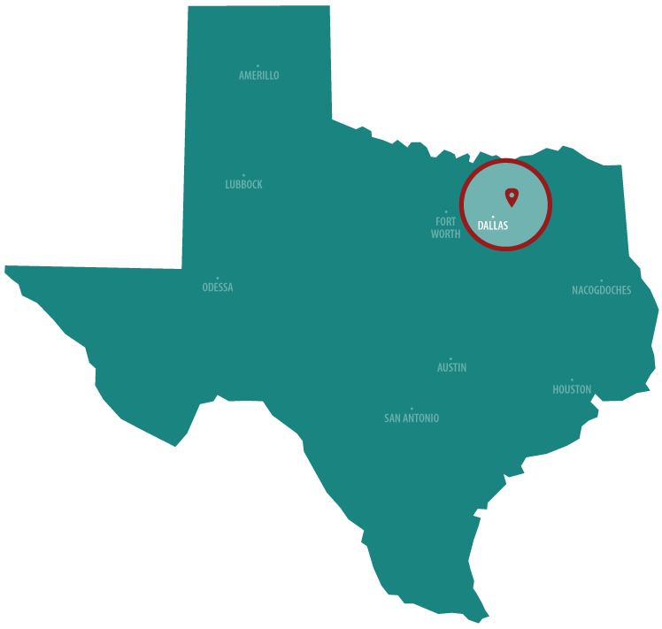North Texas Service Area Map for Cadenhead Servis Gas